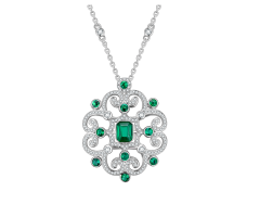 ROYAL GLAMOUR Emerald Necklace